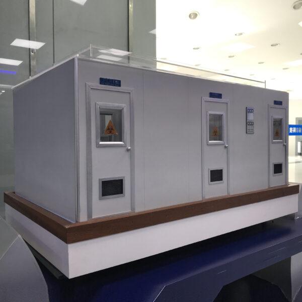 Фотография макета лабораторного комплекса GeneLab (вид снаружи)